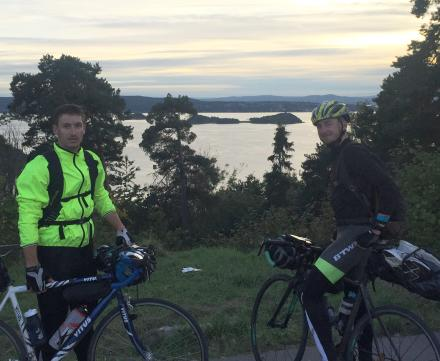 Arrivée à Oslo en vélo