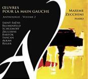 CD Œuvres pour la main gauche volume 2 par Maxime Zecchini