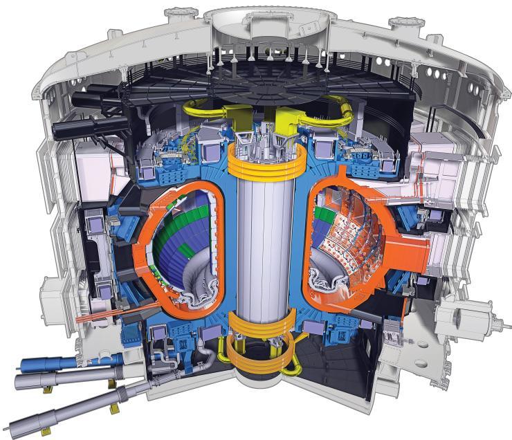 Image en coupe du Tokamak ITER