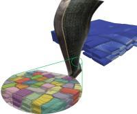 Structure composite tissée à calculer