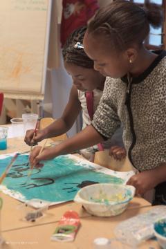 Activité de peinture au CADA