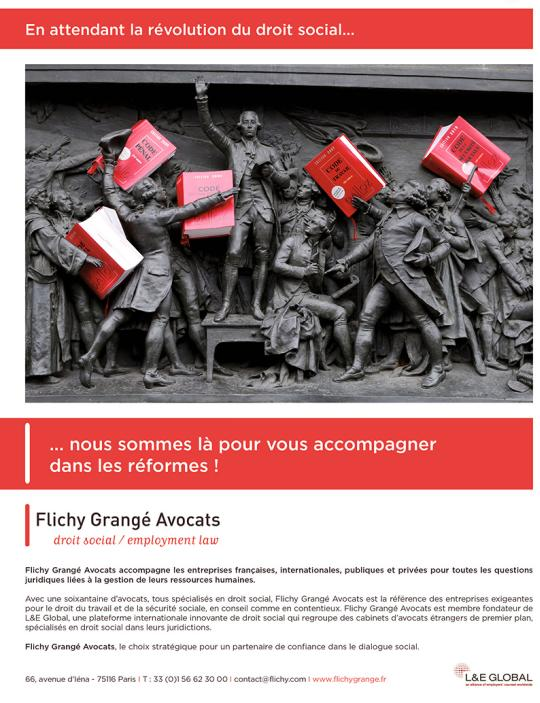 Page de publicité pour cabinet Flichy Grangé Avocats