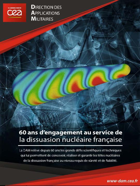 Page de publicité pour le CEA DAM