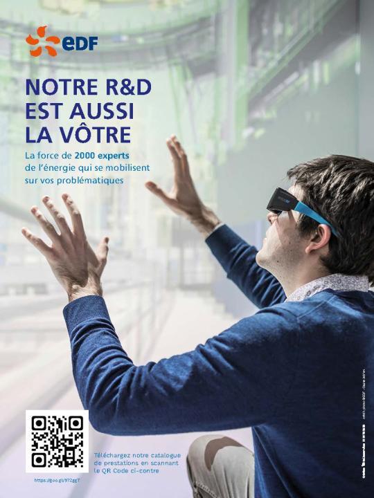 Page de publicité pour EDF