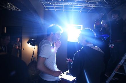 Tournage d'un film par des polytechniciens