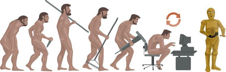 Evolution de l'espèce humaine jusqu'à l'intelligence artificielle