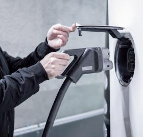 Prise de recharge d'un véhicule électrique