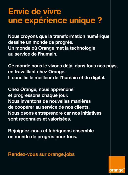 Page de publicité Orange