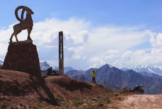 Entrée au Tadjikistan, par la Pamir Highway