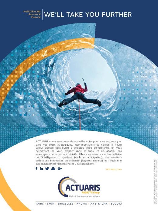 Page de publicité pour Actuaris