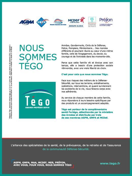 Page de publicité pour AGPM et TEGO