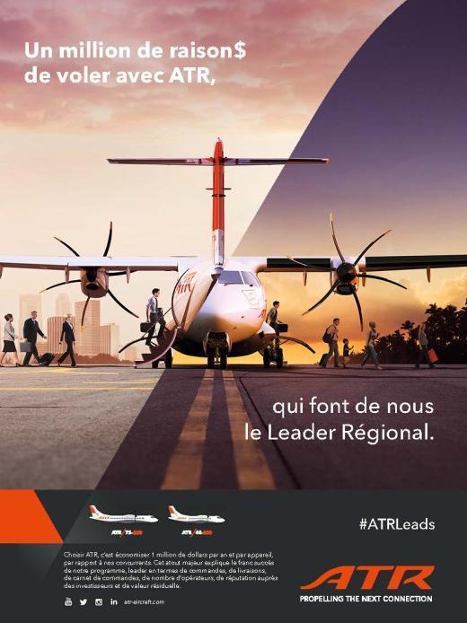 Page de publicité pour ATR