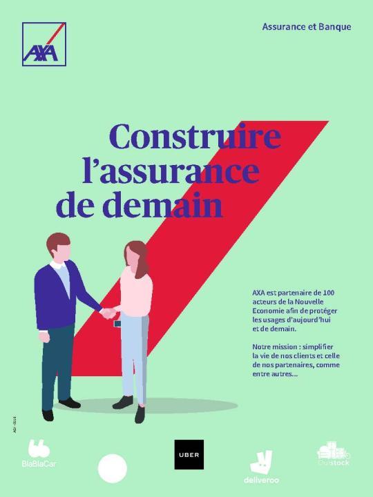 Page de publicité pour AXA France