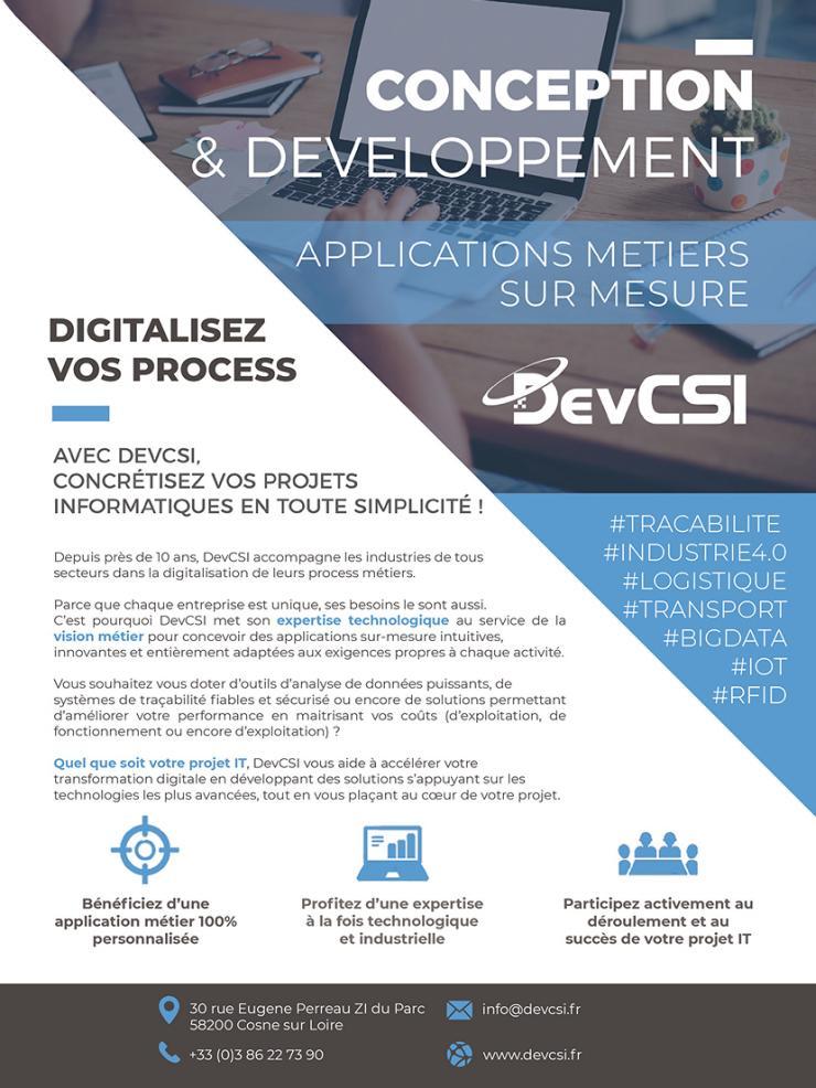 Page de publicité pour DevCSI