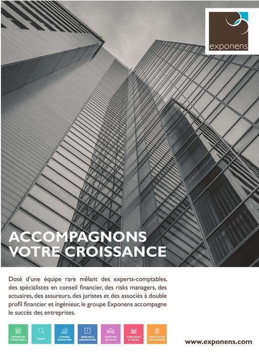 Page de publicité pour Exponens