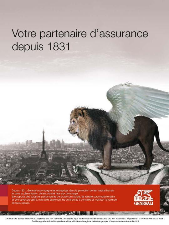 Page de publicité Generali