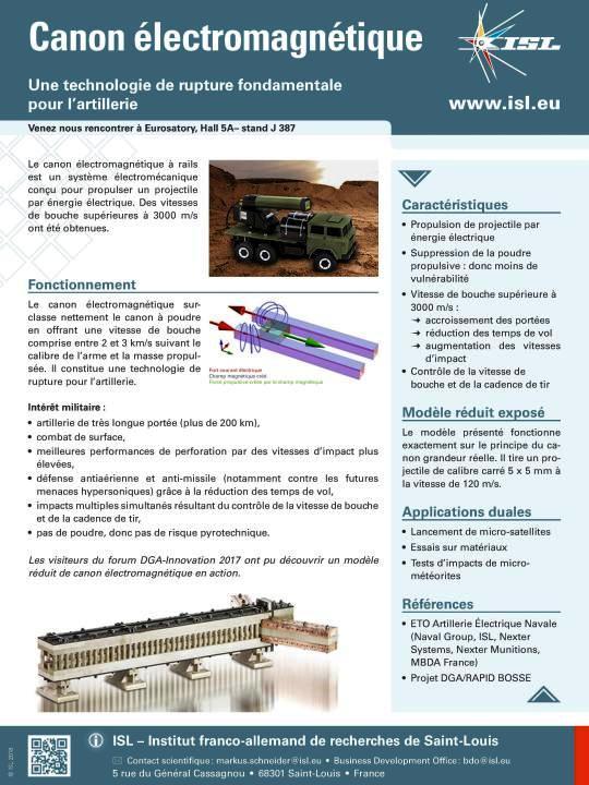 Page de publicité pour l'ISL – Institut franco-allemand de recherches de Saint-Louis