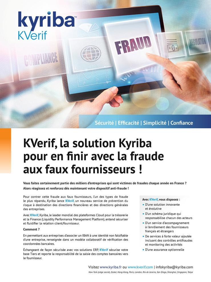 Page de publicité pour KYRIBA