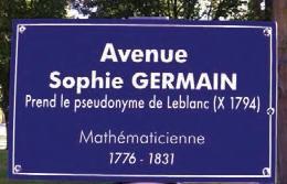 Rue Sophie Germain à l'École polytechnque