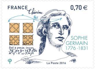 Timbre à l'effigie de Sophie Germain