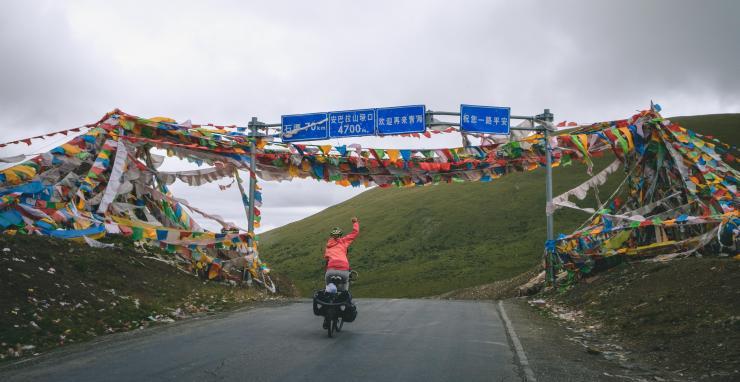 Route de la soie, col au Sichouan