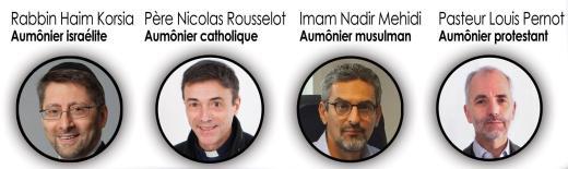 Les 4 aumôniers de l'École polytechnique, surnomés les 4 Mousquetaires
