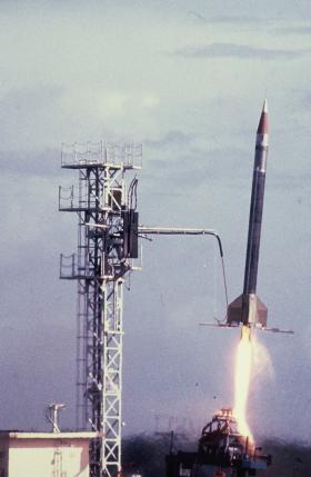 Lancement d'une fusée Véronique
