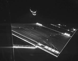 Selfie de Rosetta devant la comète 67P Tchouri.