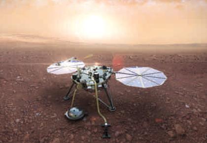L'atterrisseur de la mission InSight de la Nasa équipé par la Sodern