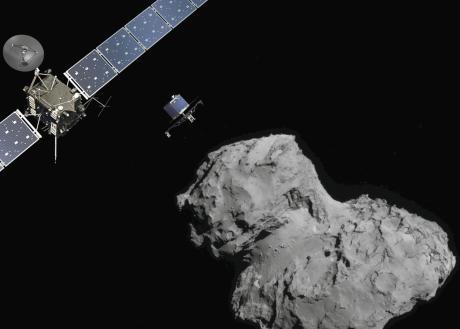Image de la comète 67P/ Churyumov-Gerasimenko par la sonde Rosetta