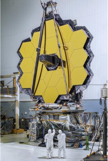 Préparation du télescope James Webb Space au NASA's Goddard Space Flight Center, Greenbelt, Maryland