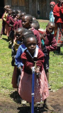fontaine d'eau potable au Kenya.