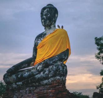 Ruine Bouddha en thaïlande
