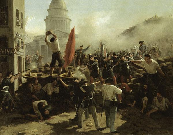 Combats dans la Rue Soufflot, Paris, 25 juin 1848. Horace Vernet