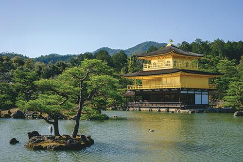 Le Kinkaku-ji, temple impérial à Kyoto