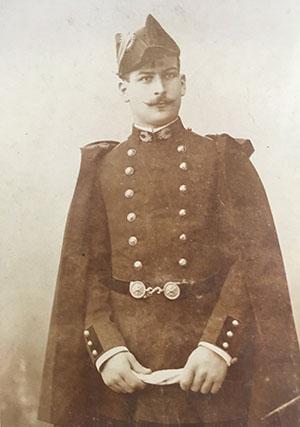 Maurice Rougemont (X 1893), opte comme beaucoup de ses camarades pour une carrière militaire