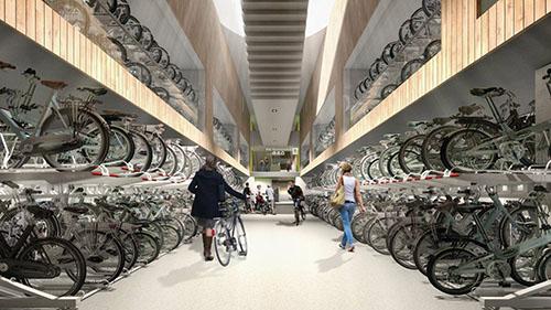 À Utrecht, la gare vient d'être équipée  d'un parking à vélos  de 12 000 emplacements !