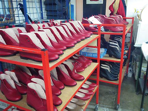 La chaussure à Romans.