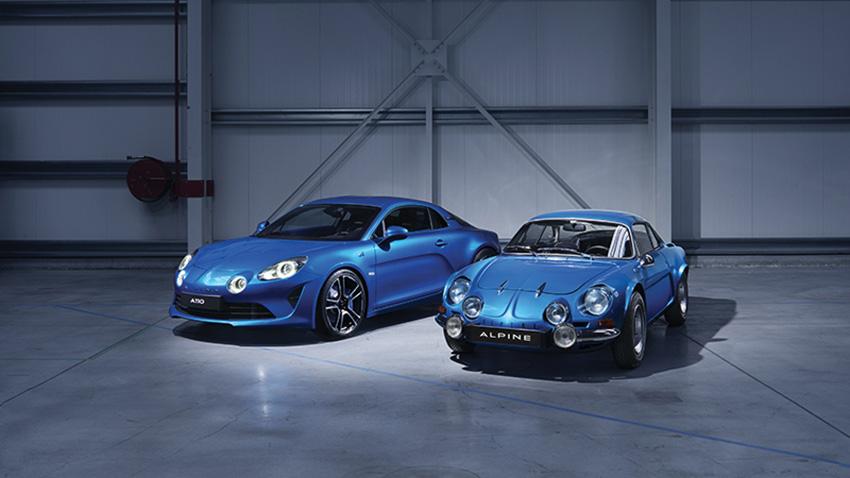 Deux générations de Renault Alpine