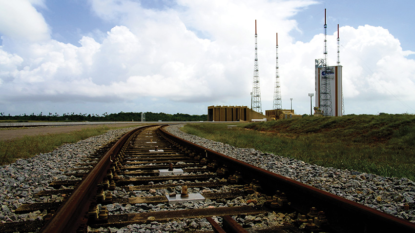 Base de Kourou en Guyane, point de départ du lanceur Ariane