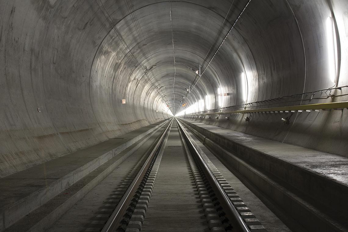 Vue du tunnel du Saint-Gothard