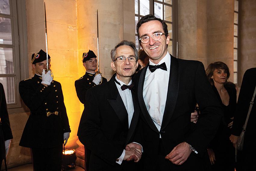 Laurent Billès-Garabédian (83), président du Bal de l'X,et Stanislas Landry (2001),président de la Commission du Bal