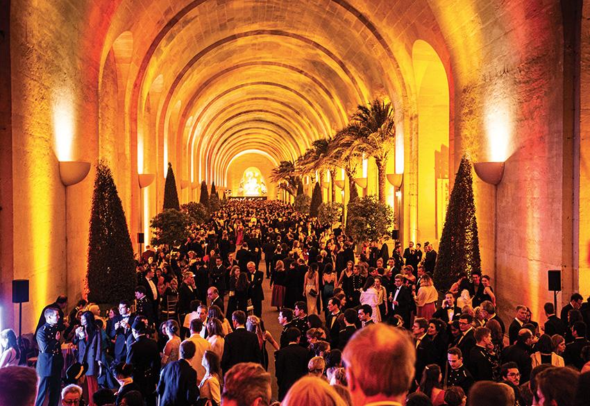 Soirée de Gala à l'occasion du Bal de l'X 2019 dans l'Orangerie du château de Versailles