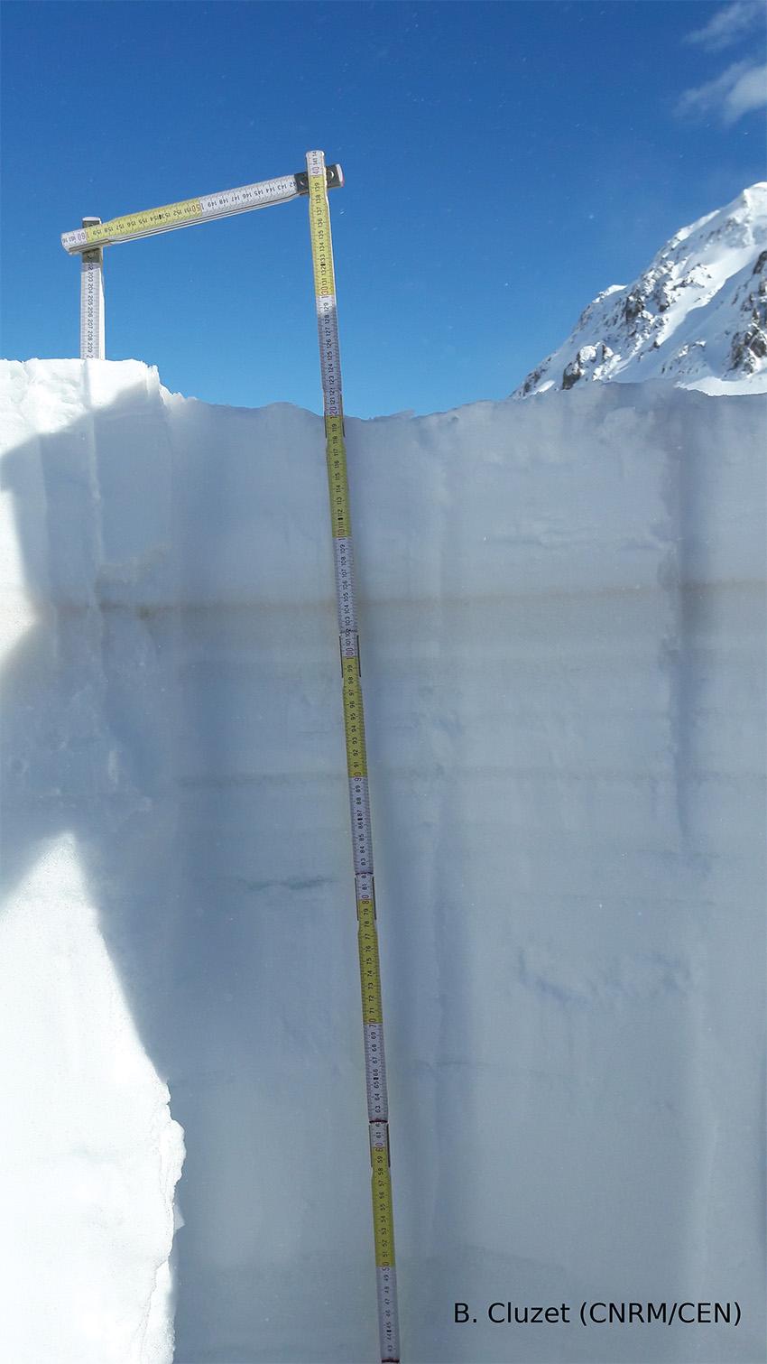 manteau neigeux au col du Lautaret