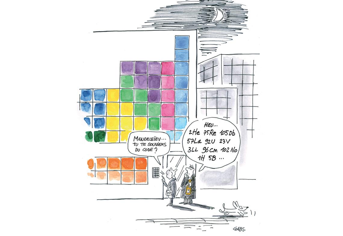 0A l'occasion de l'année de la Chimie GABS dessine Mendeleëv