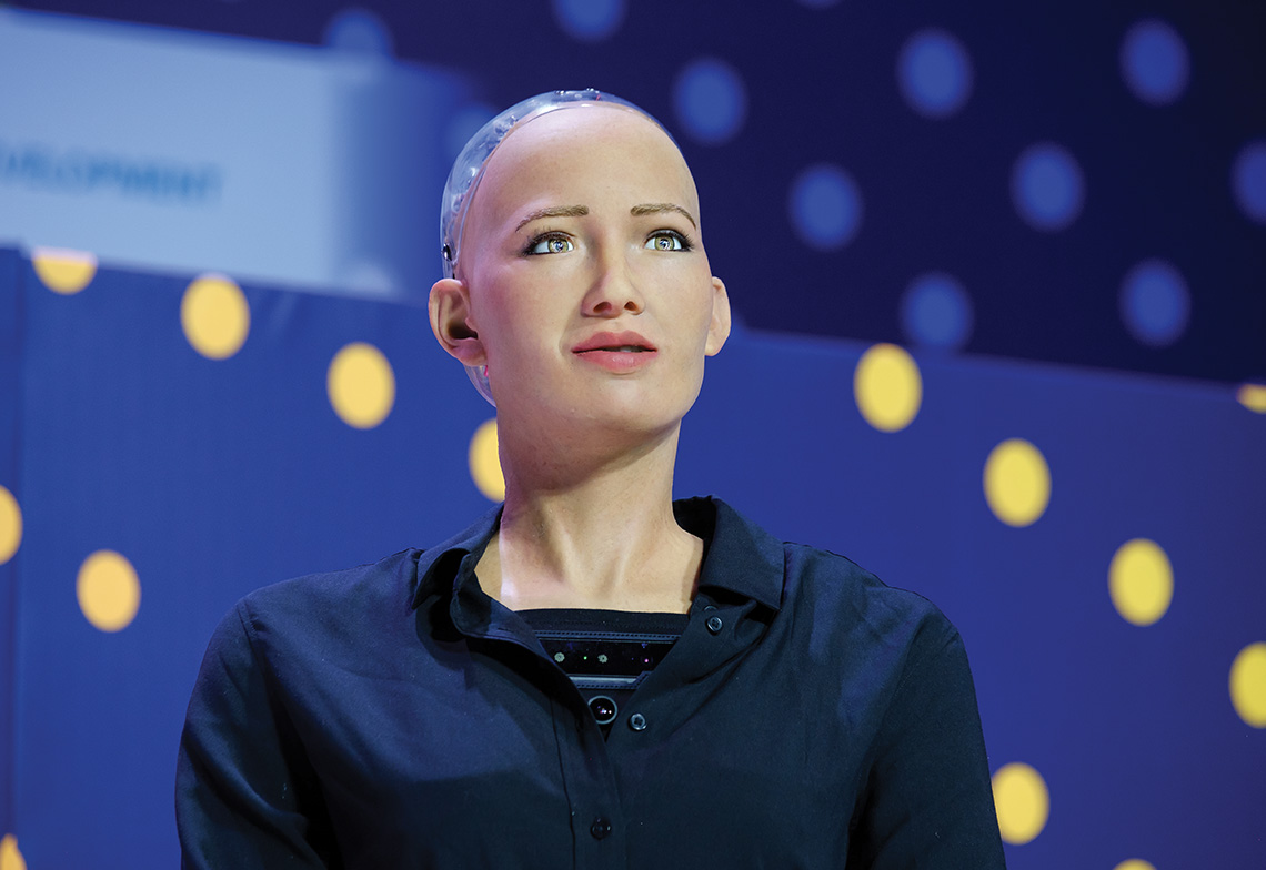 Robot humanoïde Sophia