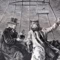 Biot et Gay-Lussac réalisant depuis leur ballon des expériences dans l'atmosphère