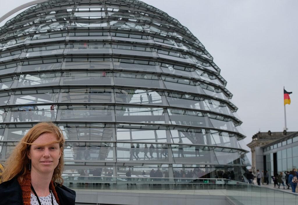 Camille Metz devant le Bundestag