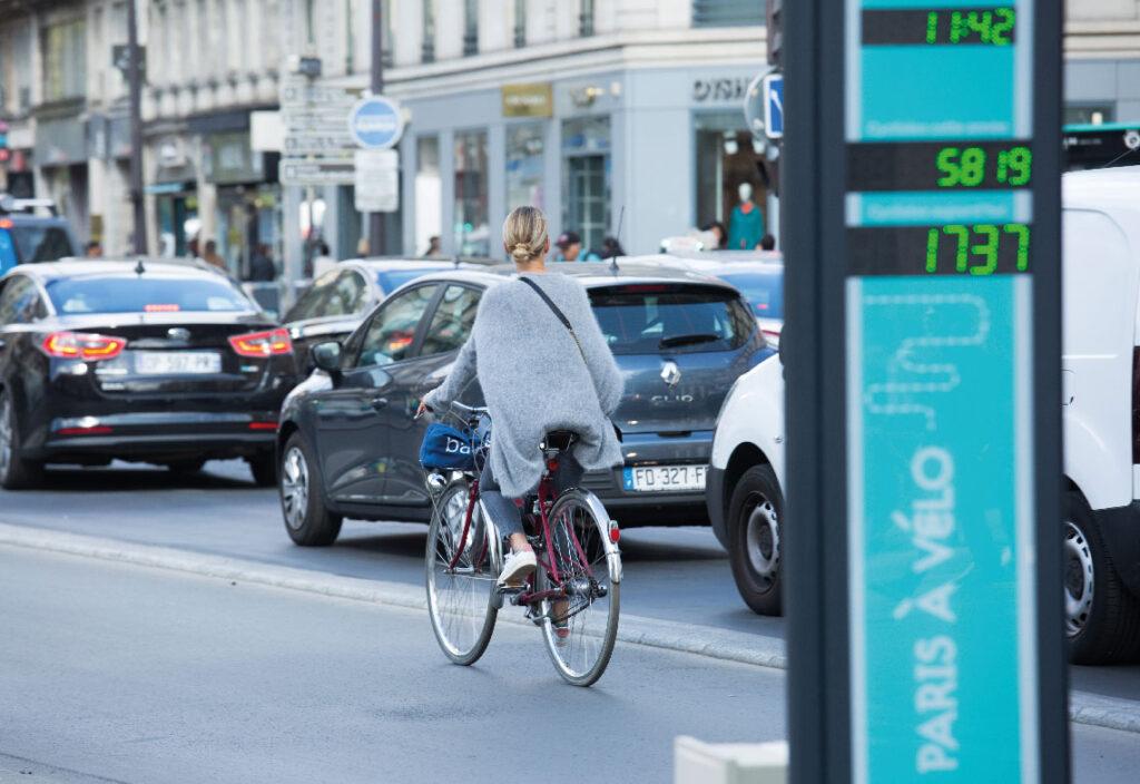 Usage du vélo à Paris