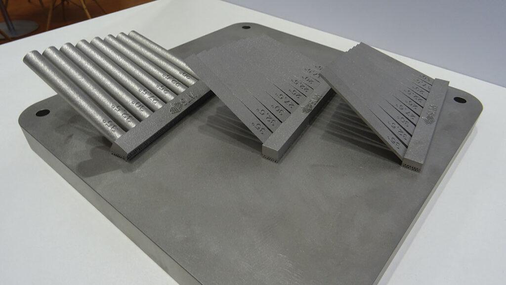 SLM Solutions a réussi à imprimer des angles très faibles sans support